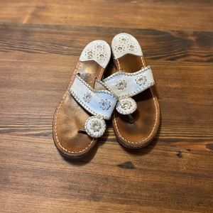 White and Silver Jack Rogers flip flop